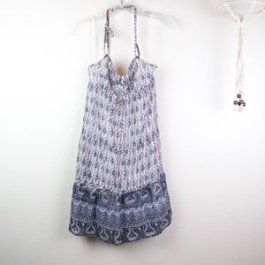 AEO | Blue Halter Dress w/Lining Sz 4